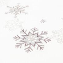 Vianočný obrus Vločky strieborná, 120 x 140 cm