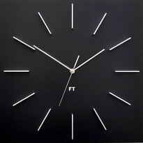 Future Time FT1010BK Square black Designerski zegar ścienny, 40 cm