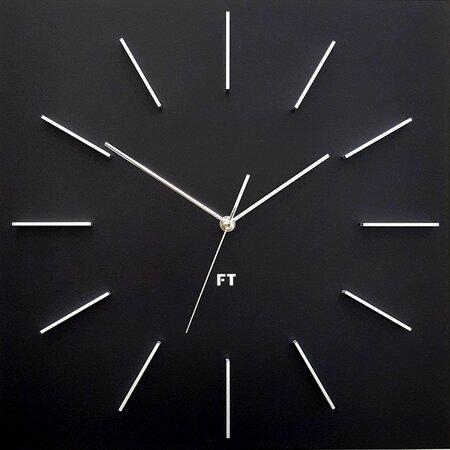 Future Time FT1010BK Square black Designové nástěnné hodiny, 40 cm
