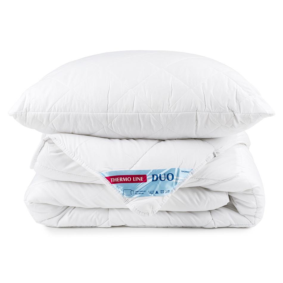 Zestaw poduszki i kołdry Thermo Line duo Calme, 140 x 200 cm, 70 x 90 c