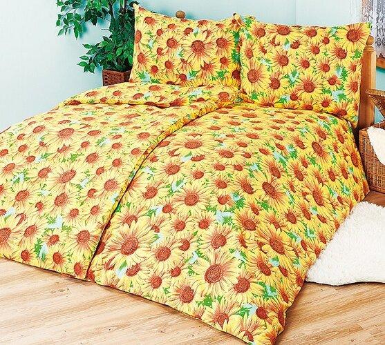4Home bavlnené obliečky Slnečnica, 240 x 220 cm, 2 ks 70 x 90 cm