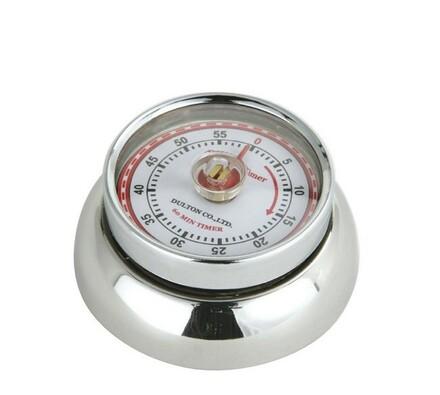 Kuchyňská magnetická minutka Speed Retro nerezová,, stříbrná