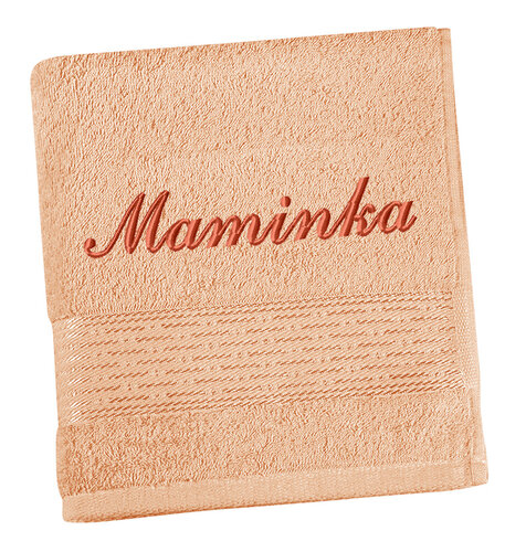 Bellatex froté ručník s výšivkou Maminka lososová