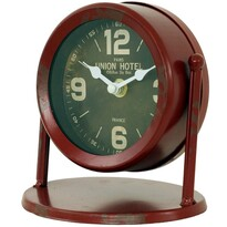 Stolní hodiny Union hotel zelená, 15 cm