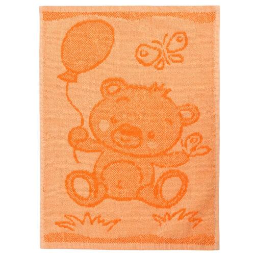 Dětský ručník Bear orange, 30 x 50 cm
