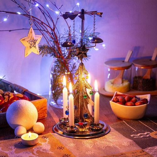 Karácsonyfa hagyományos angyalcsengő, ezüst