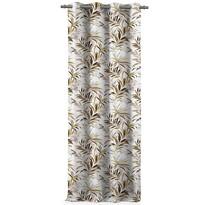 AmeliaHome Blackout Tropics függöny, barna, 140 x 245 cm