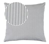 Polštář Rita, šedý proužek, 40 x 40 cm