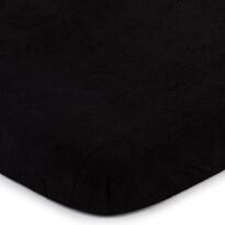 4Home prześcieradło frotte czarny, 140 x 200 cm