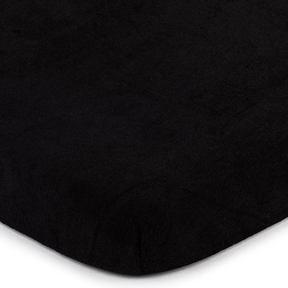 4Home froté prostěradlo černá, 90 x 200 cm