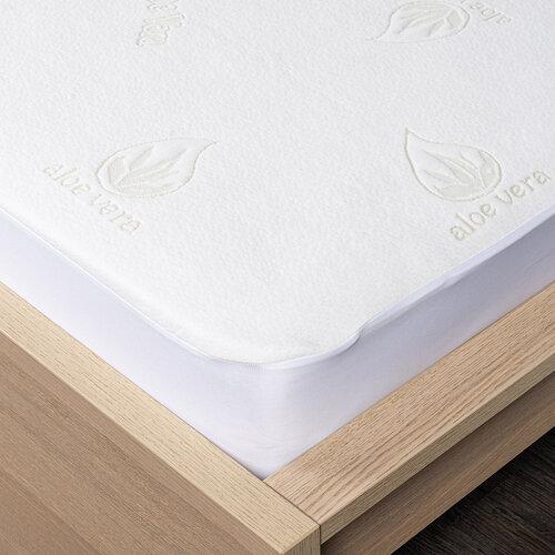 4Home Aloe Vera Ochraniacz  na materac z lamówką, 90 x 200 cm + 30 cm