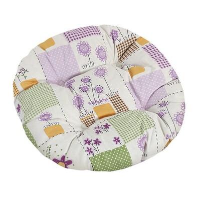 Siedzisko Gita pikowane okrągłe Lato, 40 cm