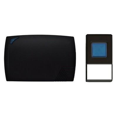 Solight bezdrátový zvonek bateriový 80m černá