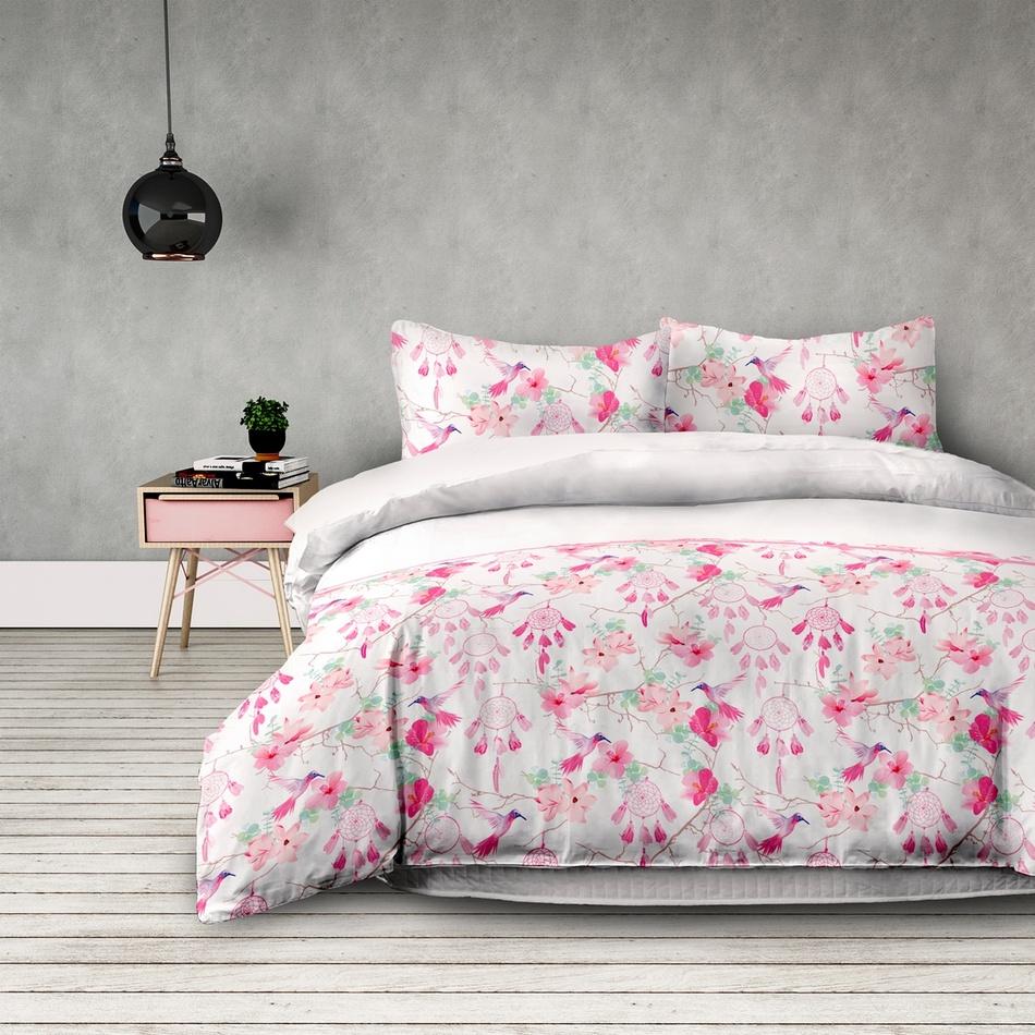 AmeliaHome Flanelové povlečení Sweet Dreams, 160 x 200 cm, 2 ks 70 x 80 cm