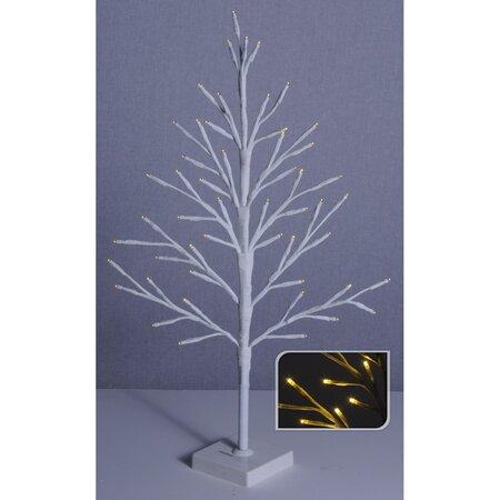 Svietiaci LED stromček Pino, biela