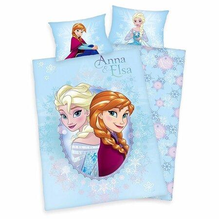 Dětské bavlněné povlečení Ledové království Frozen Anna a Elsa, 100 x 135 cm, 40 x 60 cm