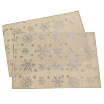 Vánoční prostírání Vločka zlatá, 32 x 45 cm, sada 2 ks