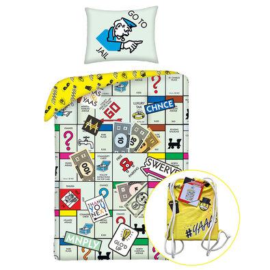 Bavlněné povlečení Monopoly  , 140 x 200 cm, 70 x 90 cm + dárek zdarma