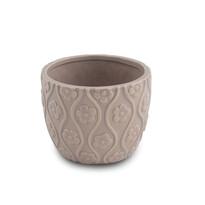 Doniczka ceramiczna brązowy, 12,5 cm