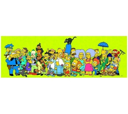 Puzzle Simpsonovi Springfield Dino Toys, 1000 dílk, vícebarevná
