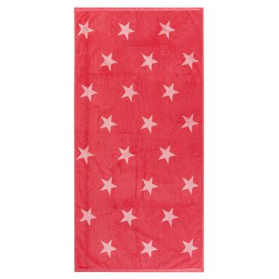 Osuška Stars růžová, 70 x 140 cm