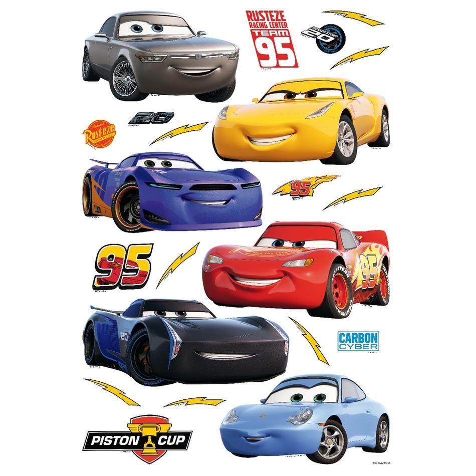 Samolepicí dekorace Cars, 42,5 x 65 cm