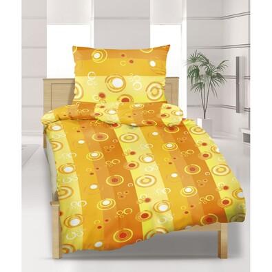 Flanelové povlečení Bublina oranžová, 140 x 220 cm, 70 x 90 cm