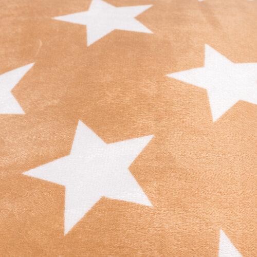 Polštářek mikroplyš Stars béžová, 40 x 40 cm