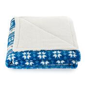 4Home Beránková deka Zimní sen modrá, 150 x 200 cm