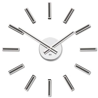 Future Time FT9400TT Modular titanium Designové samolepiace hodiny, pr. 40 cm