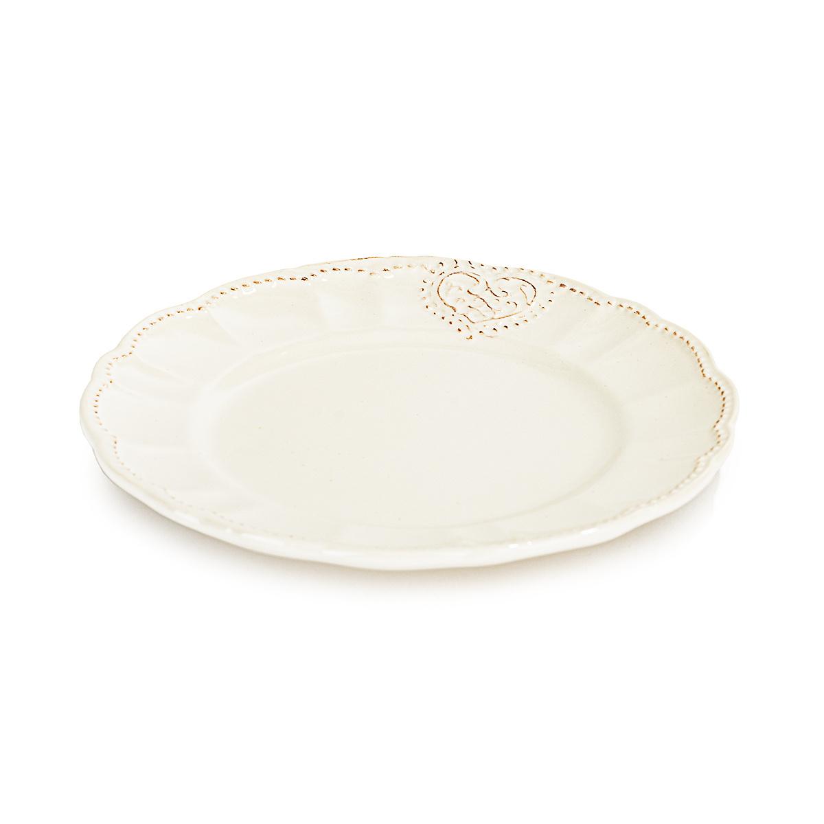 Keramický dezertný tanier Srdce 20,6 cm
