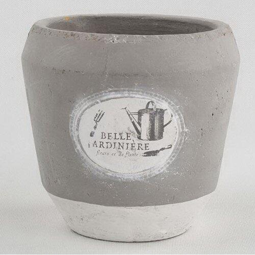 Recipient din beton pentru ghiveci Belle, 16 x 15,5 cm
