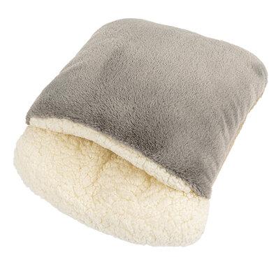 Beránkový rukávník šedá