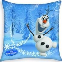 Polštářek Ledové království Frozen Olaf blue, 40 x 40 cm