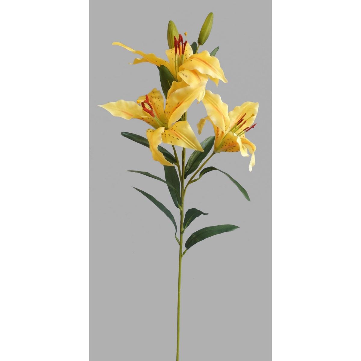 Umělá květina Lilie, žlutá