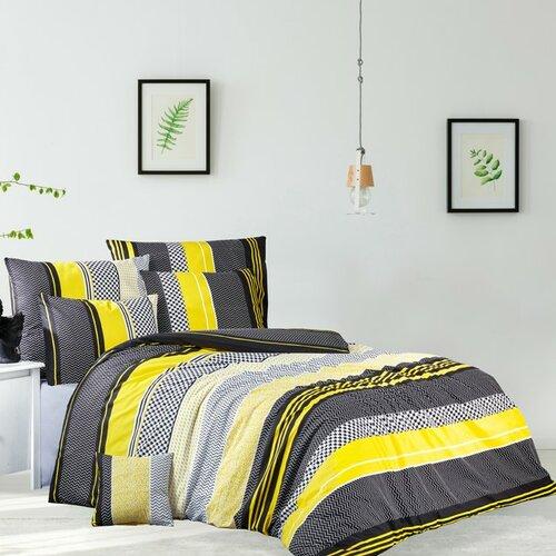 Bavlněné povlečení Zigo žlutá, 220 x 200 cm, 2 ks 70 x 90 cm