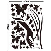 Samolepicí dekorace motýl na dlani