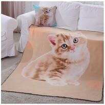 Domarex Koc Puppy Sweet Cat beżowy, 130 x 160 cm