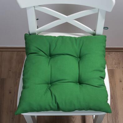 Sedák Uni, zelená, 38 x 38 cm, sada 2 ks