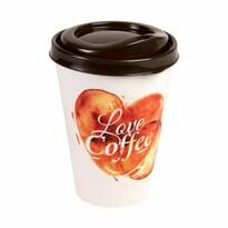 Kelímek na kávu s víčkem 0,43 l