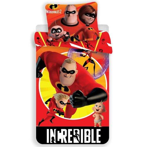 Lenjerie de pat pentru copii The Incredibles 2din flanelă, 140 x 200 cm, 70 x 90 cm