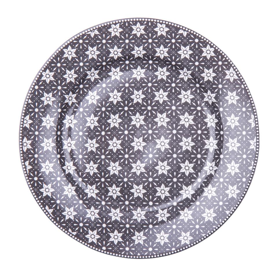 Dezertní talíř Emily 19 cm, šedá, porcelán