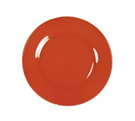 Mělký talíř Rosso, 6 ks, oranžová, Banquet, červená