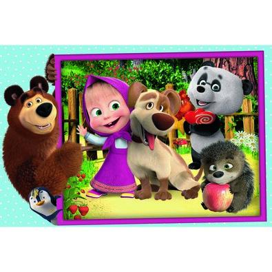 Trefl Puzzle Masza i niedźwiedź, MAXI 24 elementów