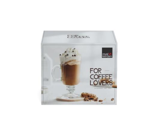 Royal Leerdam 4-dielna sada hrnčekov na kávu LOVERS, 240 ml