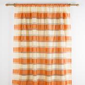 Závěs se širokým pruhem oranžová, 140 x 245 cm