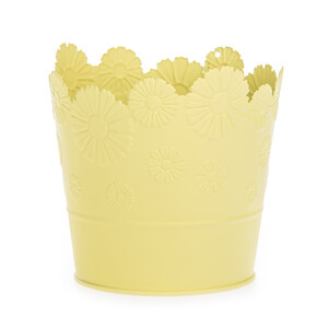 Zinkový květináč Daisy žlutá, pr. 13,5 cm