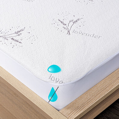 4Home Lavender Nepropustný chránič matrace s lemem, 200 x 200 cm + 30 cm
