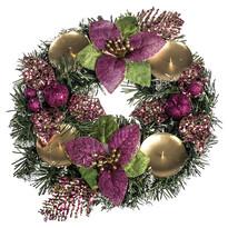 Decorațiune Crăciun cu poinsettia diam. 25 cm, roz
