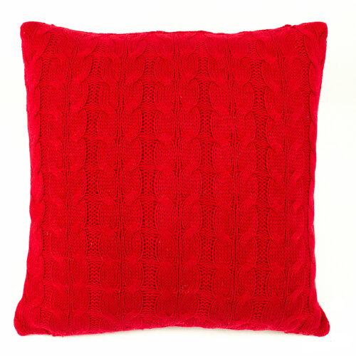 Obliečka na vankúšik pletená Uno červená, 45 x 45 cm